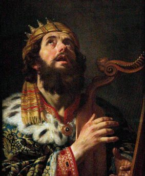 David Playing the Harp
